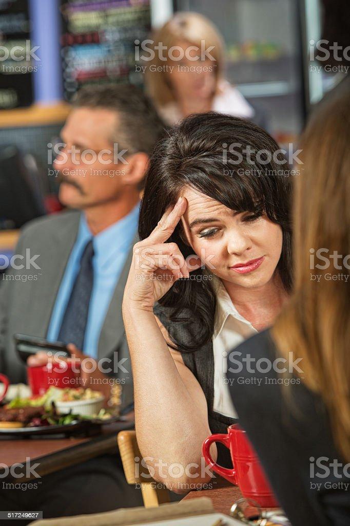 Sorry Woman stock photo