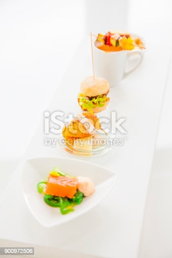 istock Sortiment of appetizers on a buffet 900972506