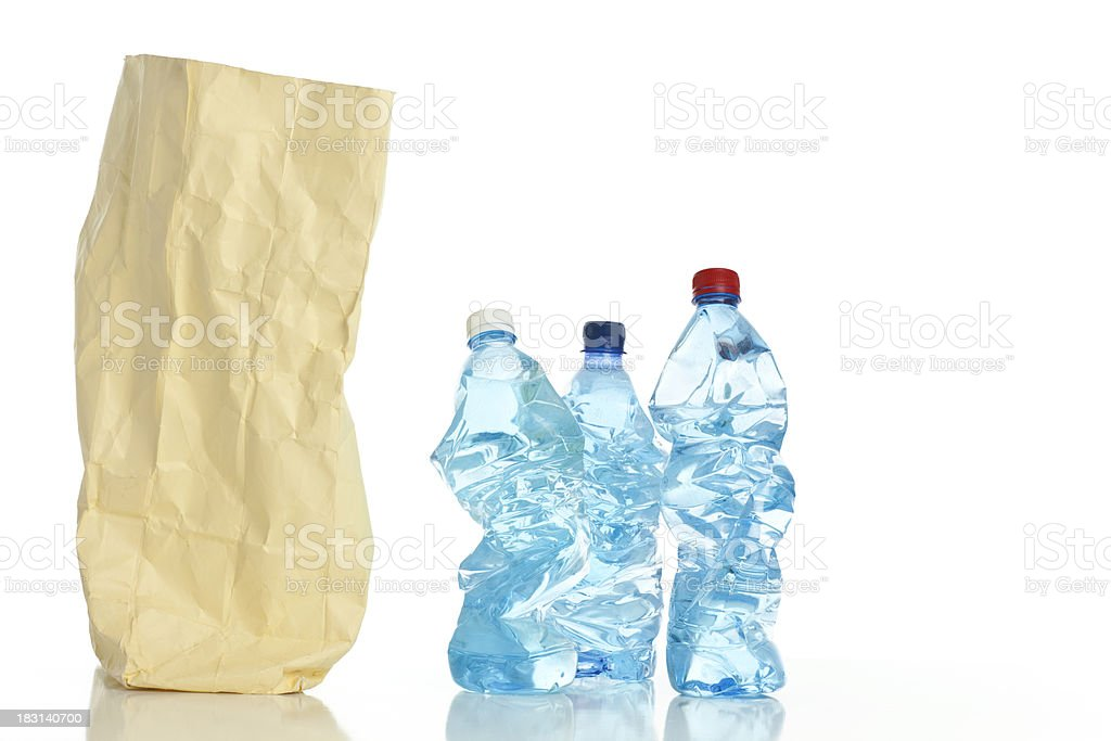 Sorting garbage paper and plastic. royalty-free stock photo