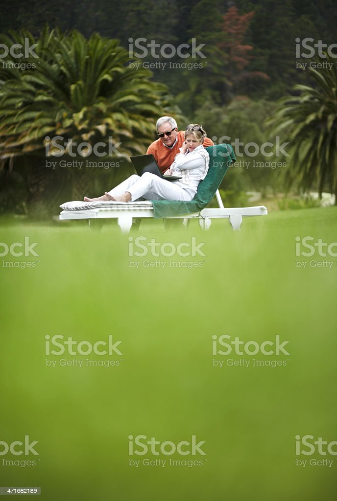 Sorting out the itinerary for their vacation royalty-free stock photo