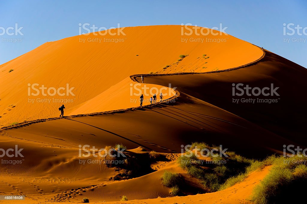 Sossusvlei dune, Naukluft National Park, Namibia stock photo