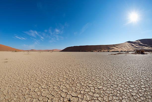 Sossusvlei in backlight, Namibia, Africa stock photo