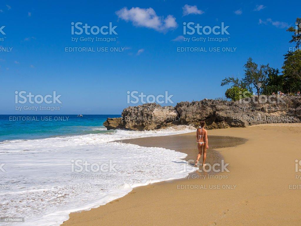 Sosua Beach, Dominican republic royalty-free stock photo