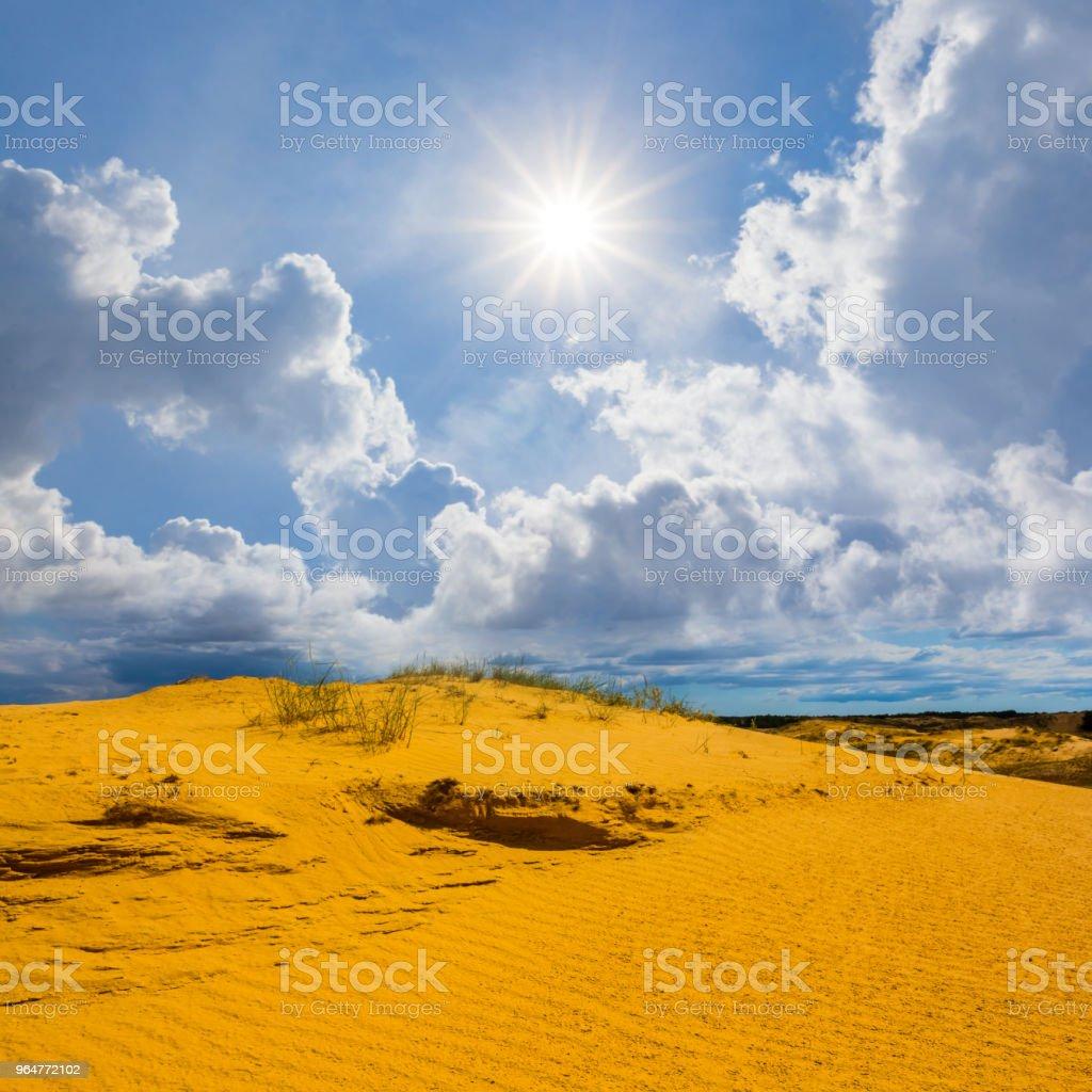 sot summer sandy desert under a sparkle sun royalty-free stock photo