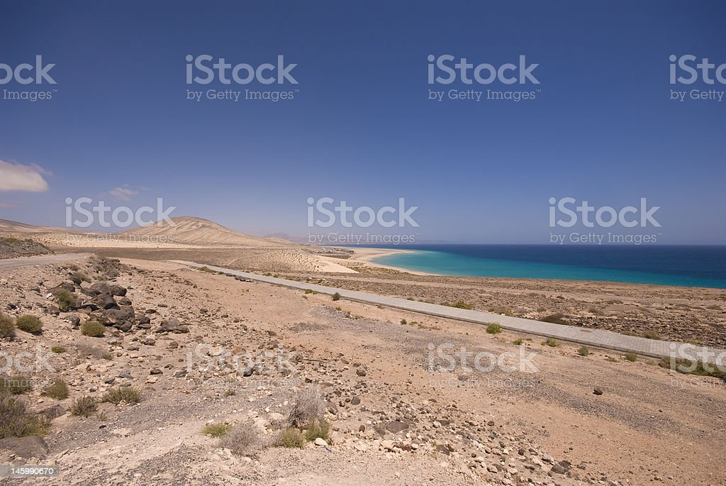 Sotavento Beach (Fuerteventura, Spain) stock photo