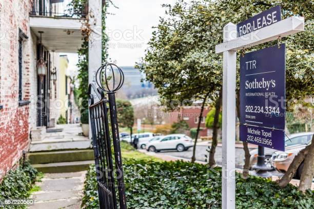 Sothebys for lease property sign in georgetown neighborhood picture id657220560?b=1&k=6&m=657220560&s=612x612&h=cly3rpvveamy  tl1gj1vyhuf2qnl0r bavtzpo9y94=