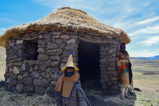 istock Sotho shepherds at the highlands of Lesotho 1153220924