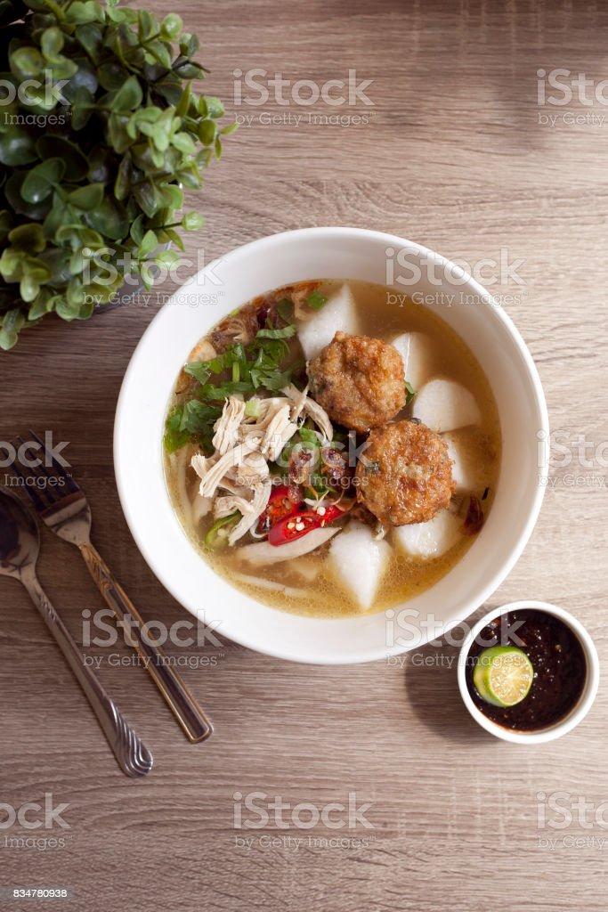 Soto Ayam stock photo