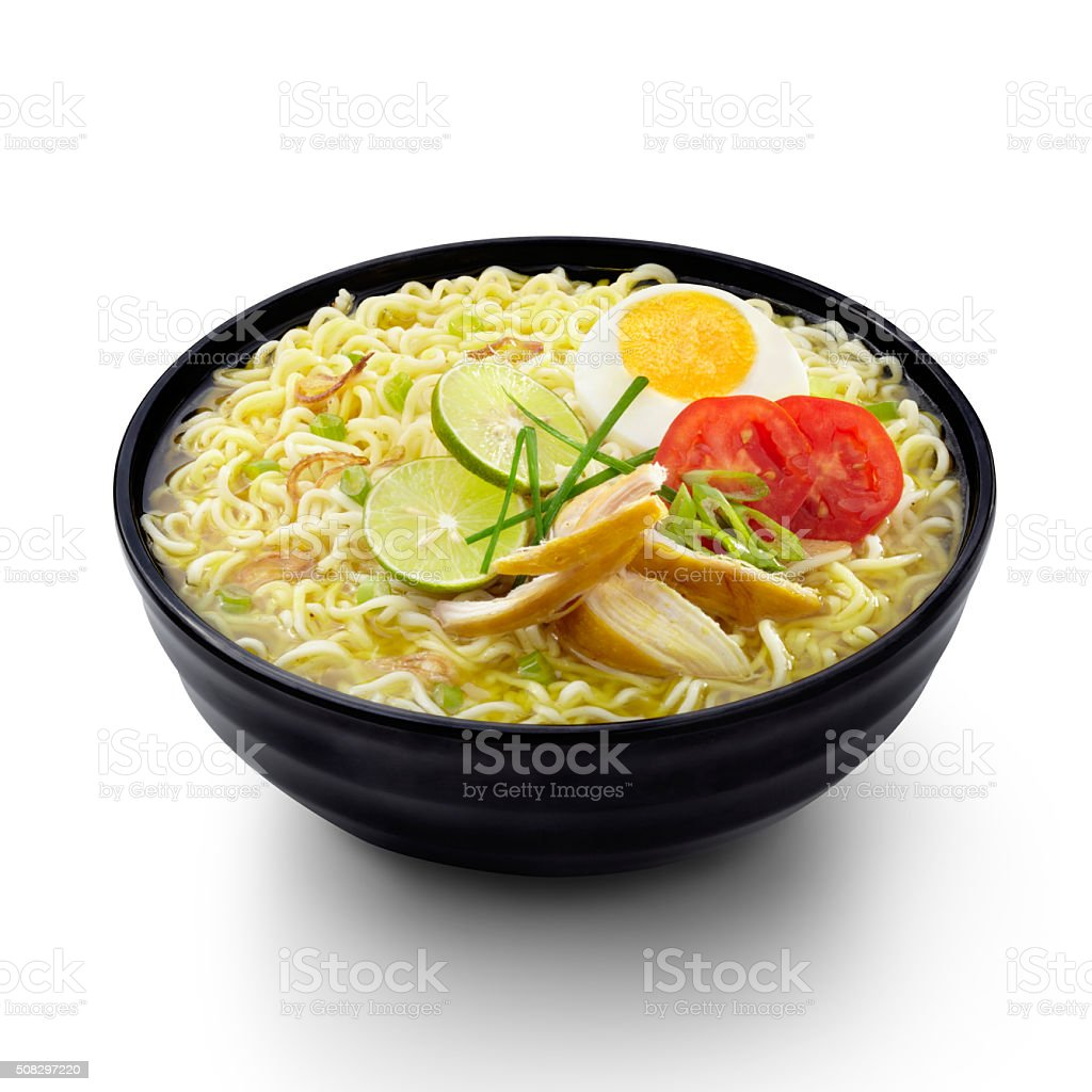 Soto Noodles Indonesian Food stock photo