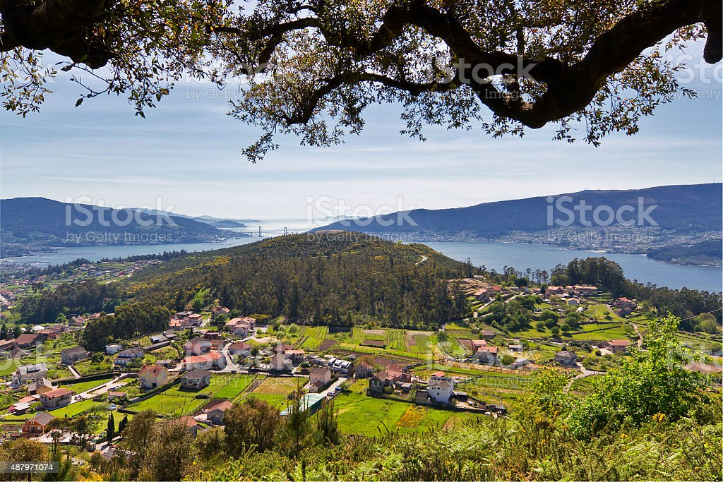 Sotomayor and Vigo Estuary stock photo