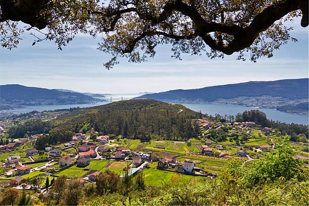 Sotomayor and Vigo Estuary stock photo