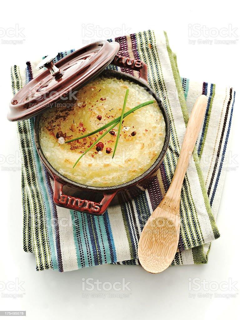 souffle mashed potatoes stock photo