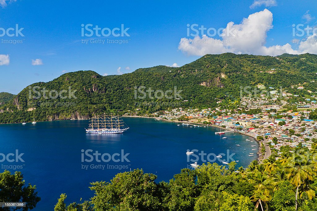 Soufriere Bay, Saint Lucia stock photo