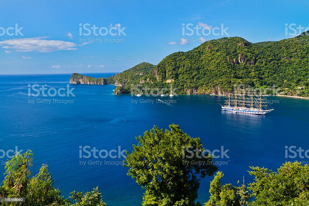 Soufriere Bay, St. Lucia stock photo