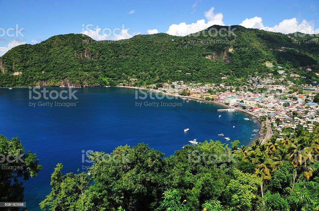 Soufriere from above stock photo