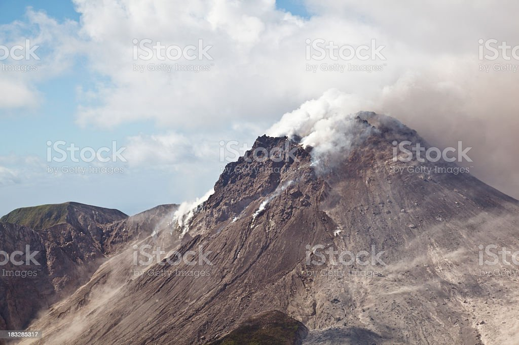Soufriere Hills Volcano, Montserrat stock photo