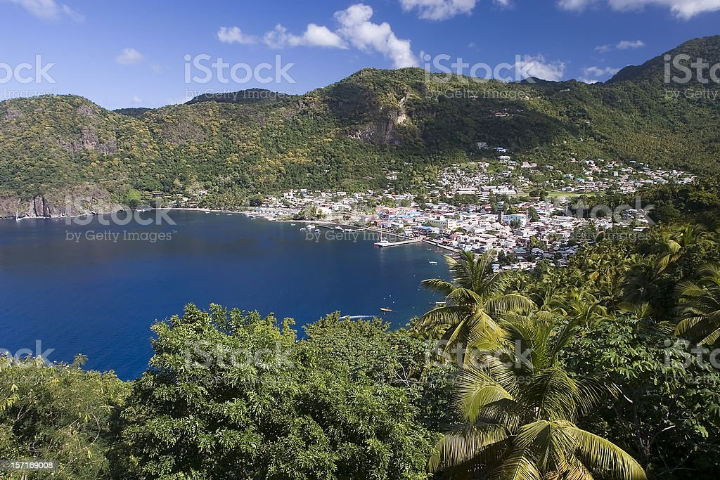 Soufriere in the Caribbean stock photo