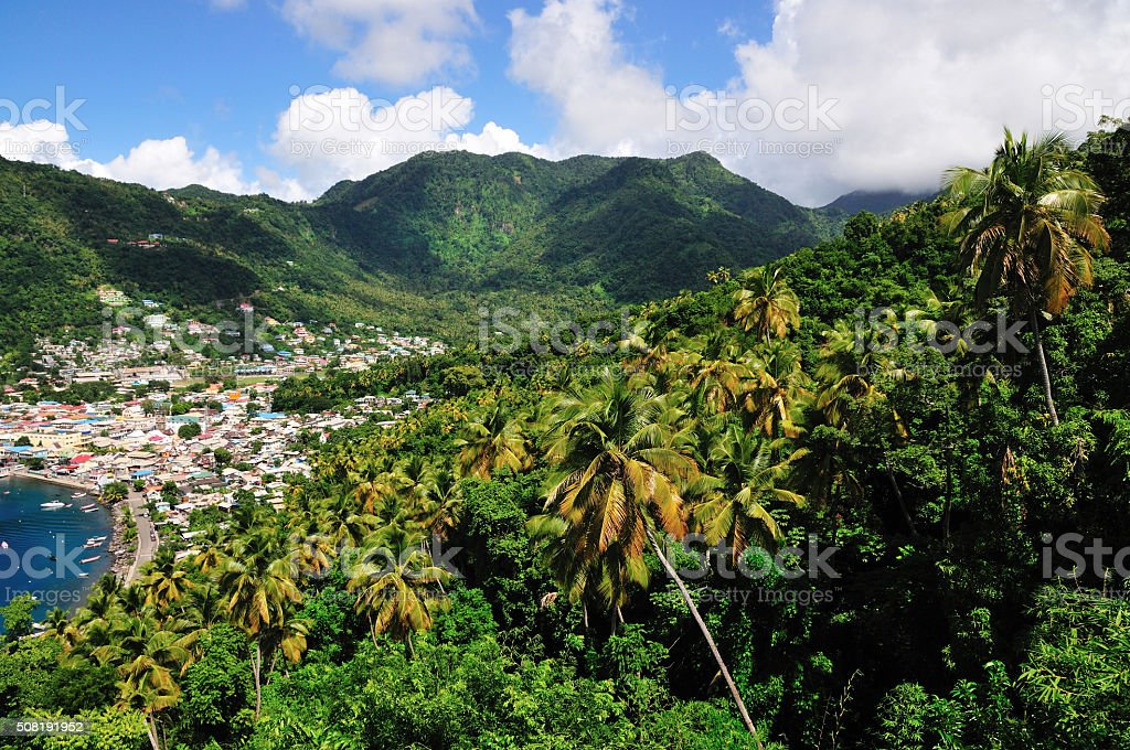 Soufriere in the valley stock photo