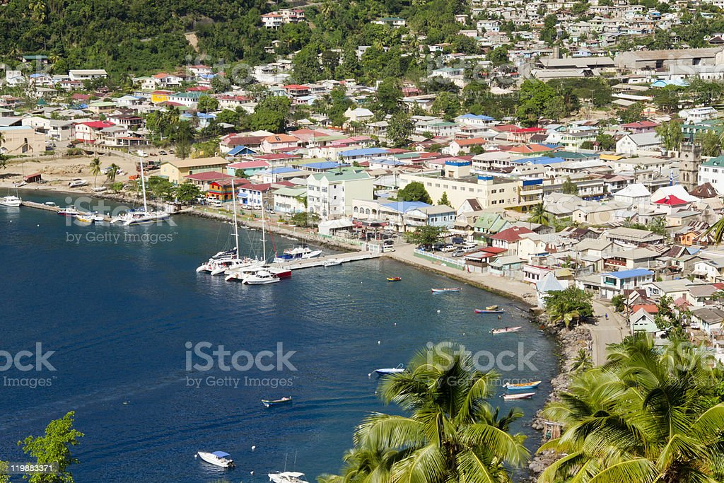 Soufriere, Saint Lucia stock photo