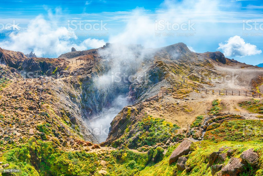 Soufriere volcano stock photo