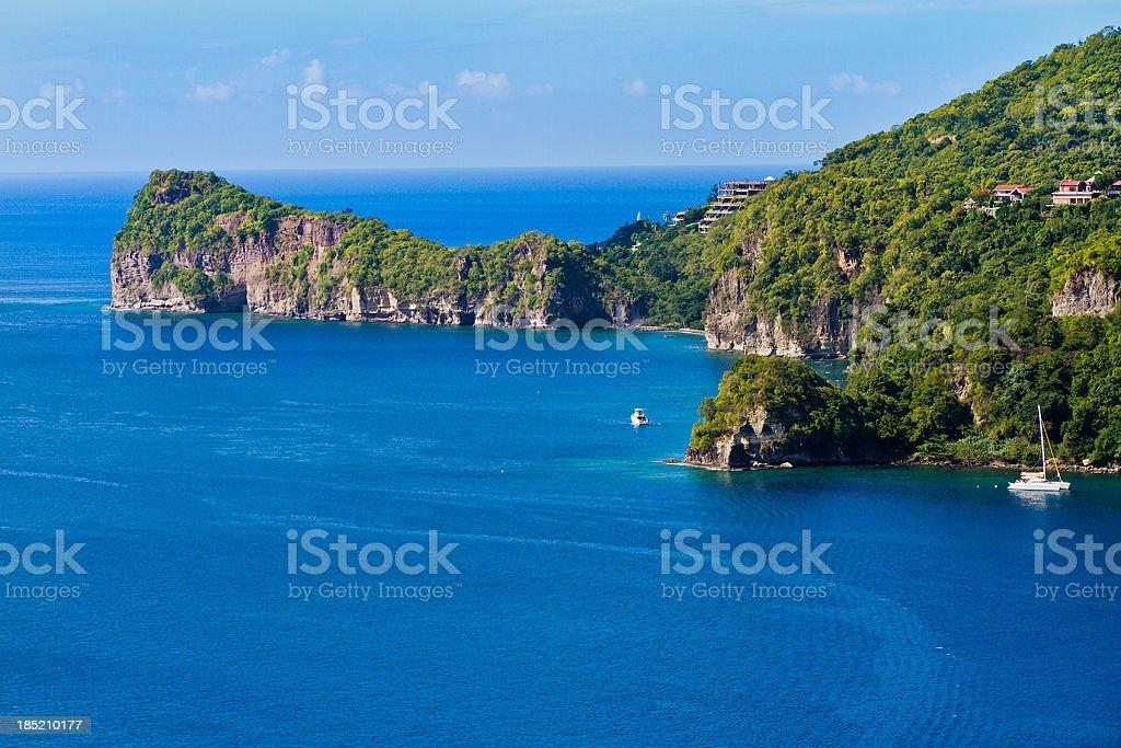 Soufrière Bay, Saint Lucia stock photo