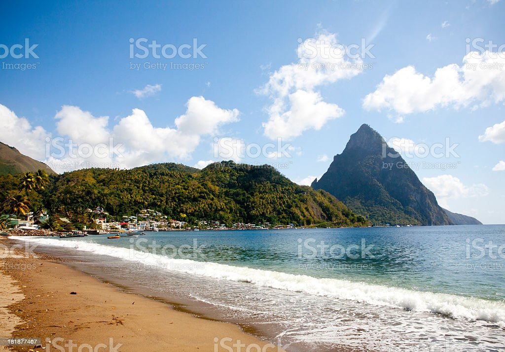 Soufrière Beach stock photo