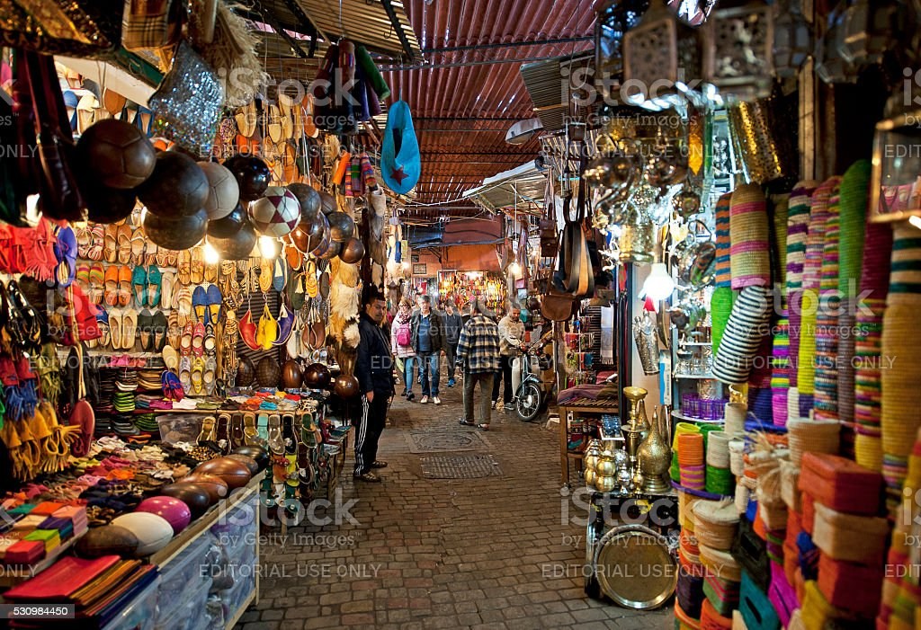 Souk sensation, Marrakech, Morocco stock photo