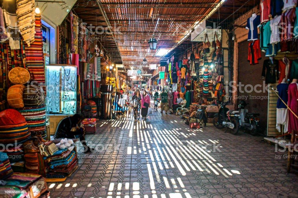 Souk von marrakesch - Lizenzfrei Alt Stock-Foto