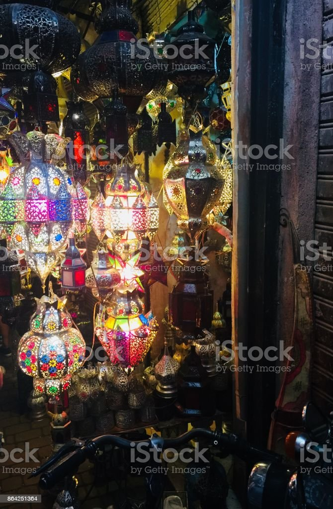 Souks in Marrakesh royalty-free stock photo