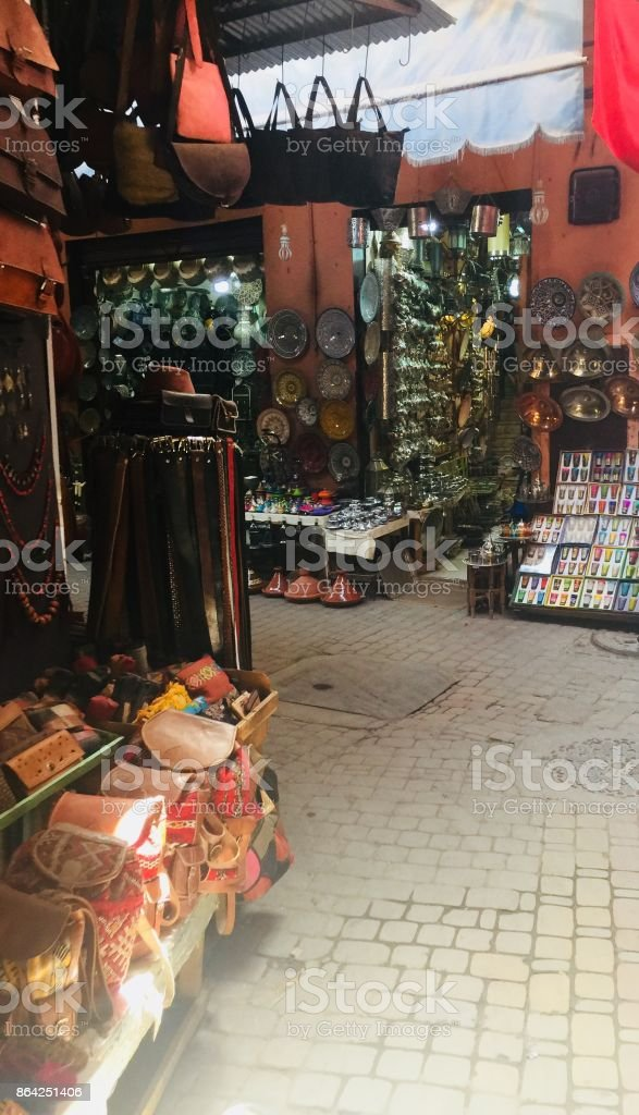 Souks in Marrakesh royalty-free stock photo