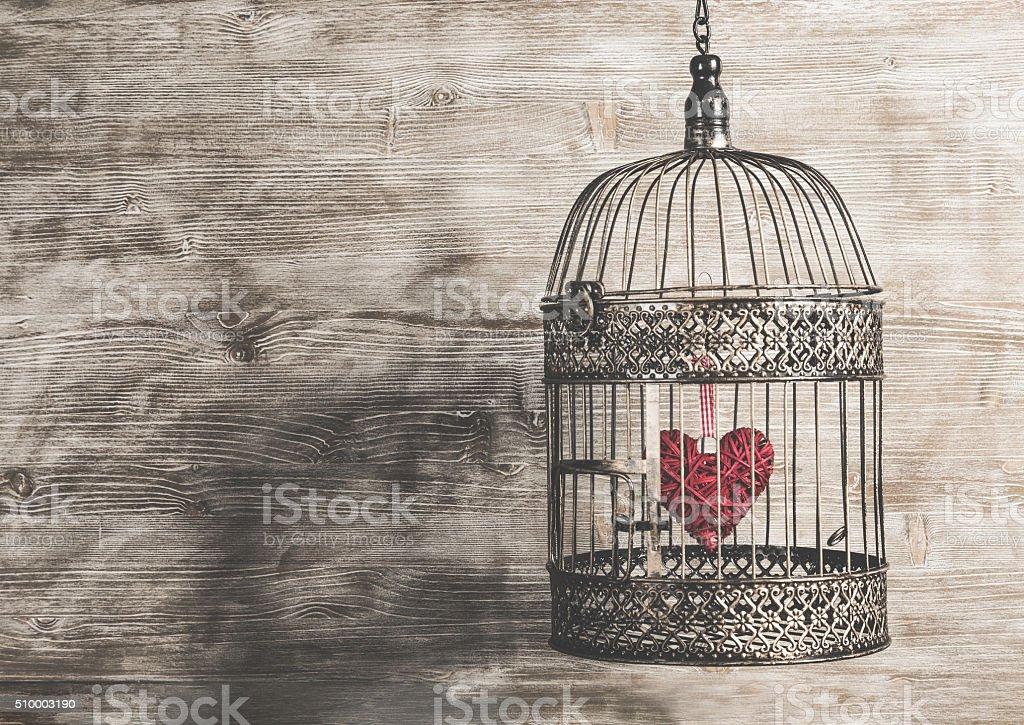 Soul cage conceptual image. stock photo
