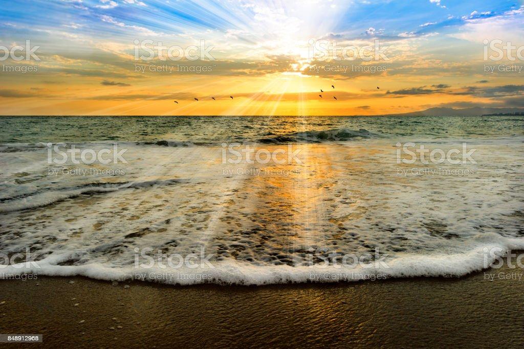 Seele Ocean Light Taufe Sonnenuntergang – Foto