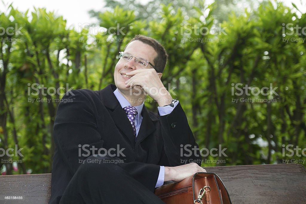 Soulagement, Homme d'affaires, Hommes, Affaires stock photo