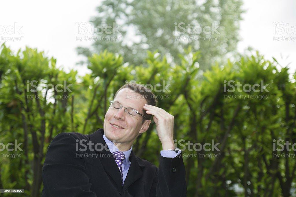 Soulagement, Homme d'affaires, Hommes stock photo