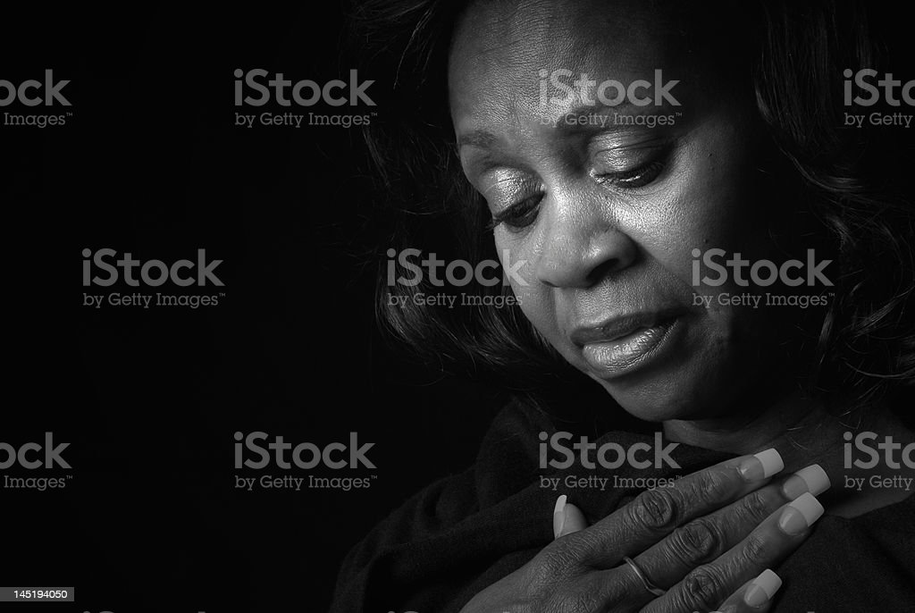 Soulful Black Woman stock photo