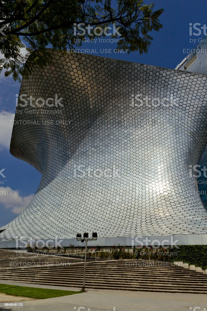 Soumaya museum at Mexico city stock photo