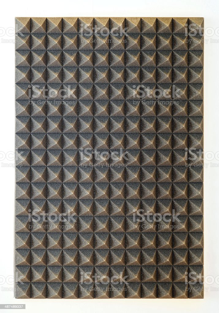 Sound absorbing sponge stock photo