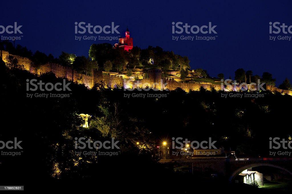 Sound and Light Show on Tsarevets Hill, Veliko Tarnovo, Bulgaria. royalty-free stock photo