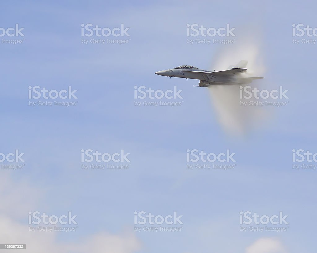 F-18 Sound Barrier - Royalty-free Aircraft Wing Stock Photo