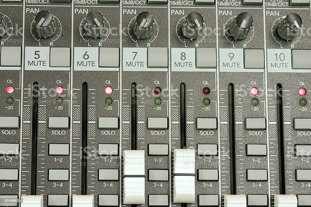 Sound Board Close Up royalty-free stock photo