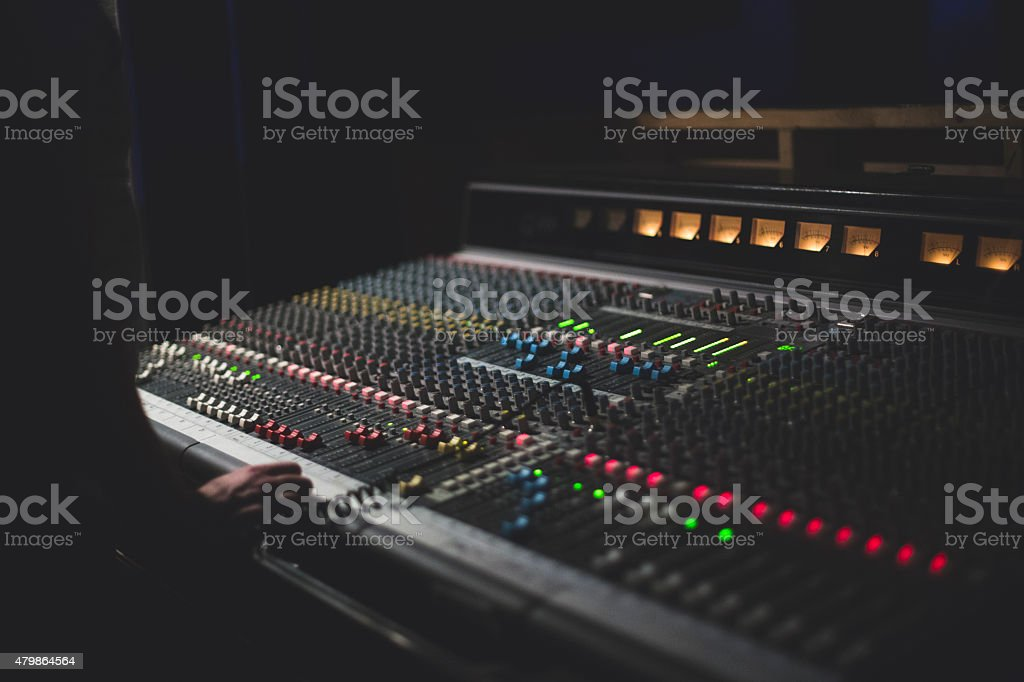 Sound Board stock photo