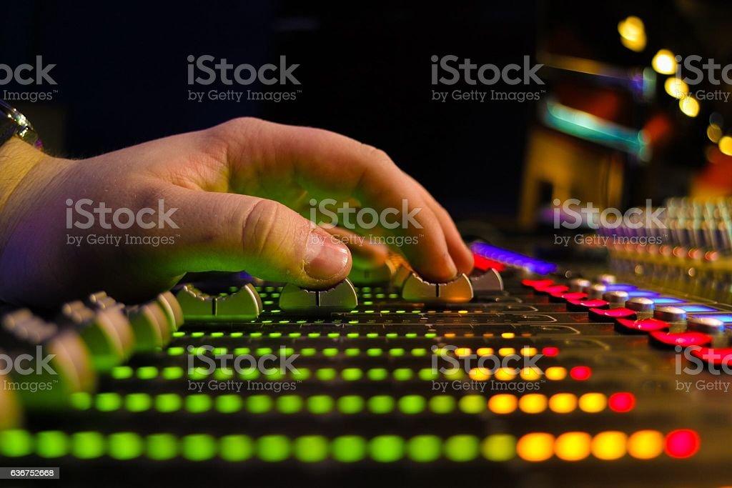 Sound Desk stock photo