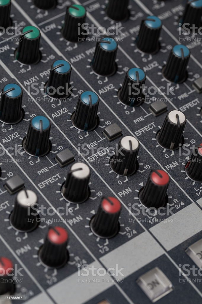 Sound Digital Mixer royalty-free stock photo