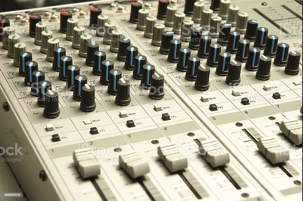 Ingeniero de sonido de Audio de mezclador foto de stock libre de derechos