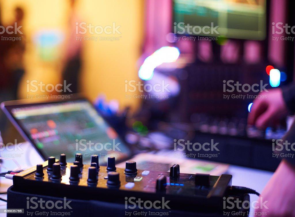 sound equipment stock photo
