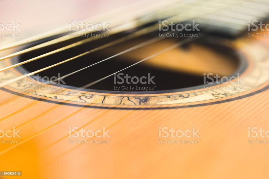 Schallloch Gitarre - Lizenzfrei Abstrakt Stock-Foto
