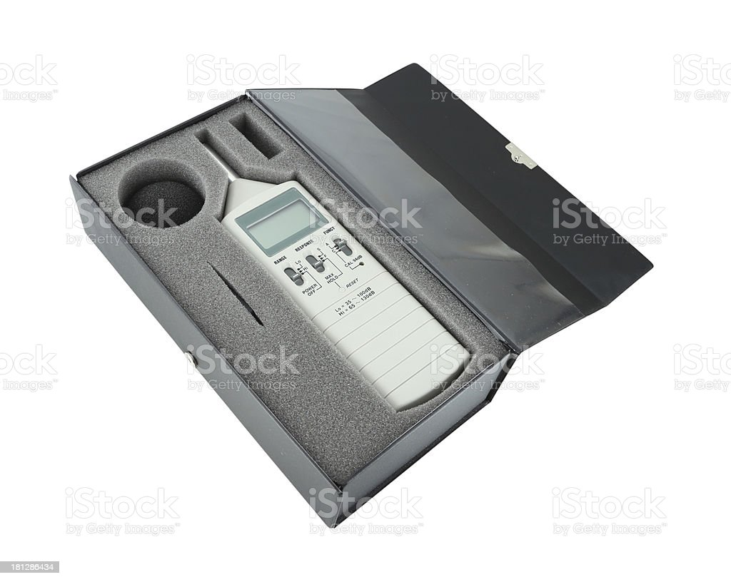 sound level meter in box royalty-free stock photo