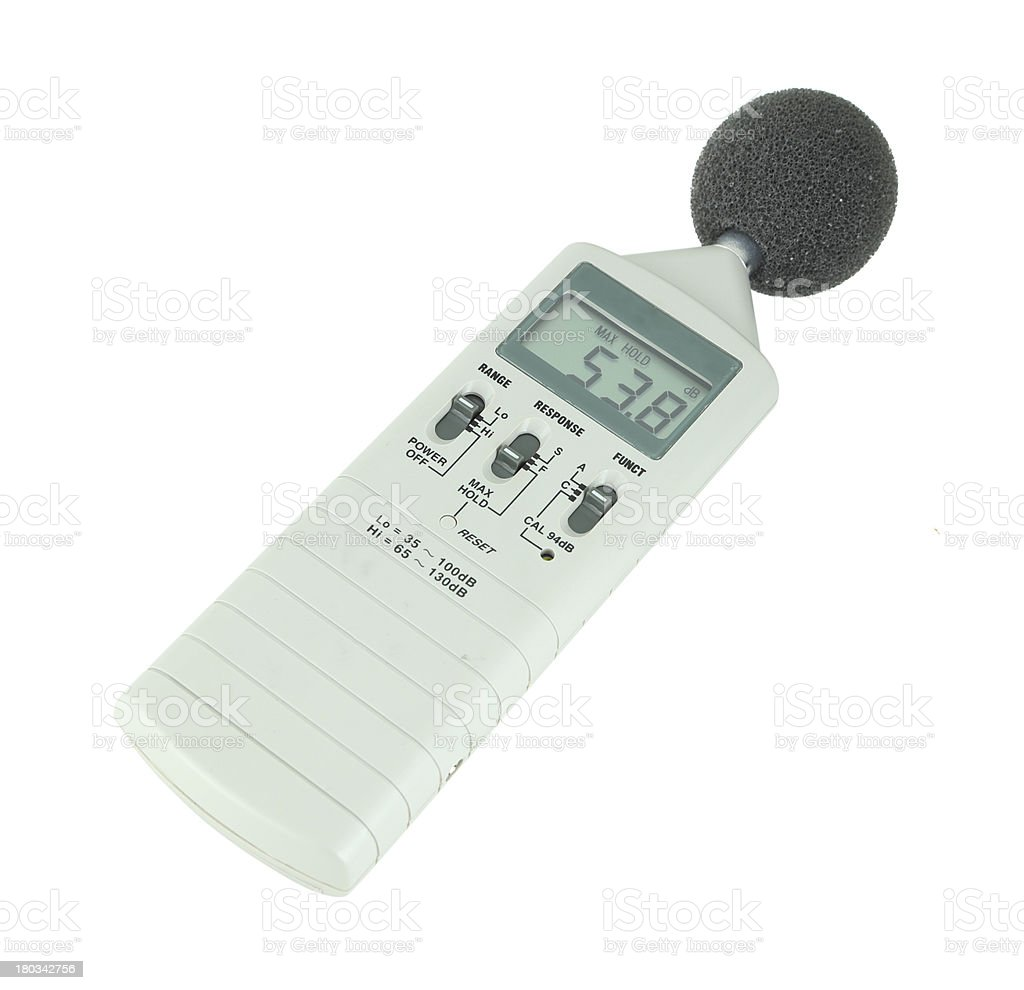 sound level meter royalty-free stock photo