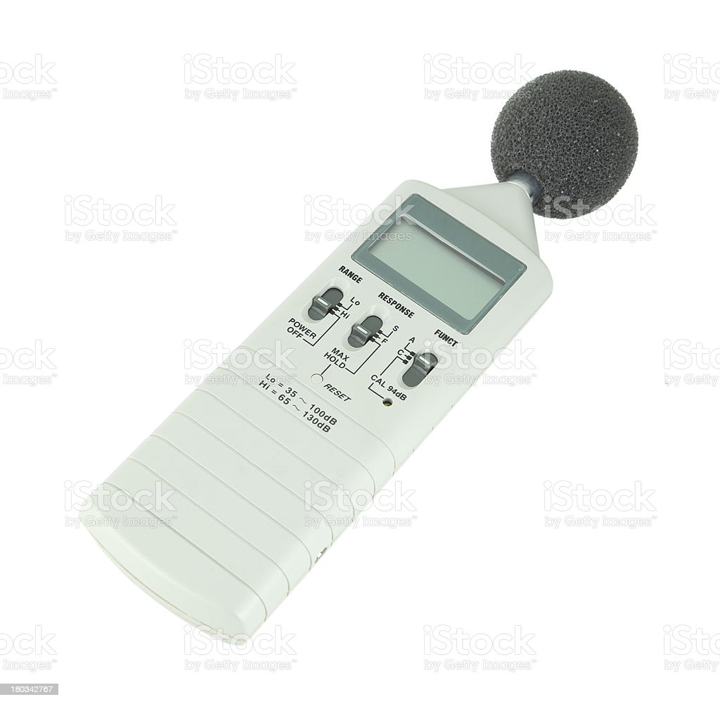 sound level meter royalty-free stock photo