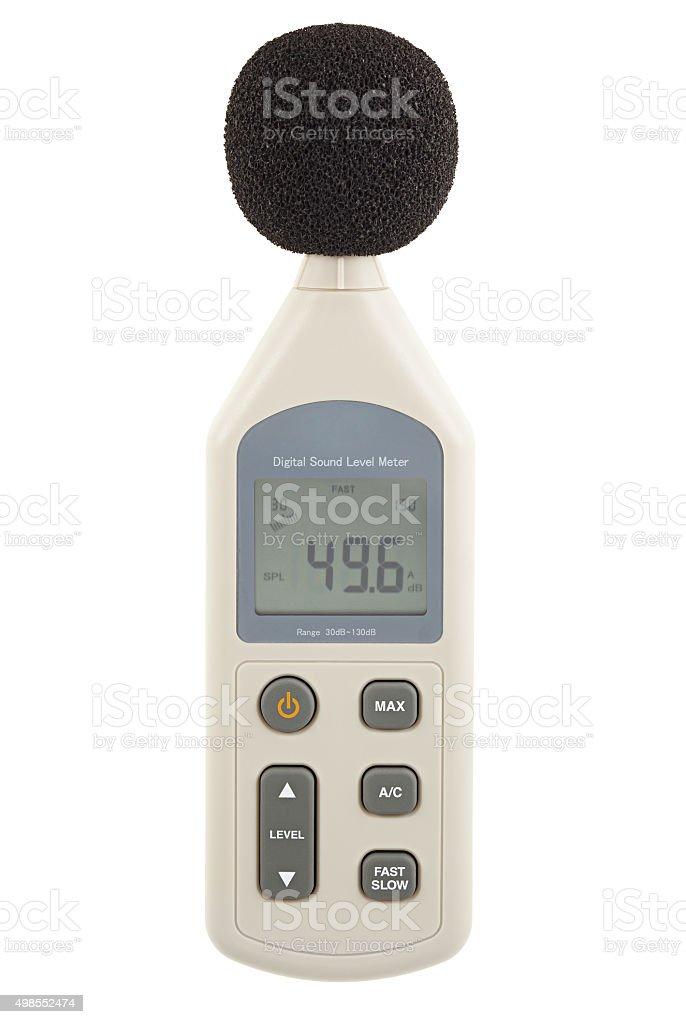 Sound level meter stock photo